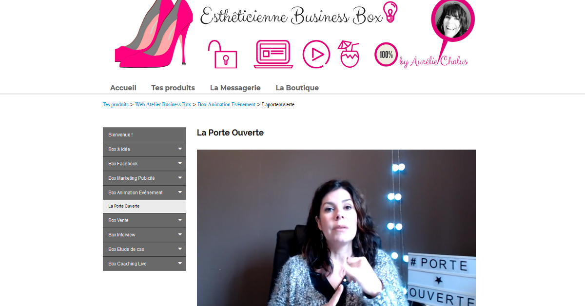 Estheticienne Business Box